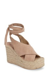 Marc Fisher Women's Ltd Andira Platform Wedge Sandal Blush Suede