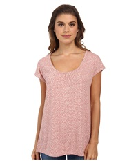 Woolrich Passing Trails S S Tee Barnacle Geo Women's Short Sleeve Pullover Pink