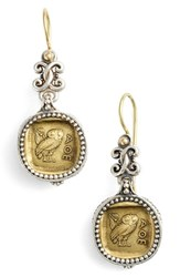 Konstantino Women's 'Athena Owl' Drop Earrings Silver Bronze