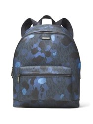Michael Kors Camo Printed Canvas Backpack Midnight