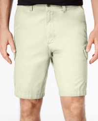 Geoffrey Beene Men's Big And Tall Washed Twill Cargo Shorts Stone