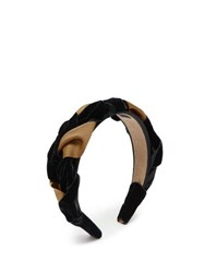 Eliurpi Braided Velvet And Grosgrain Headband Gold Multi