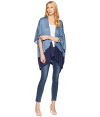 Collection Xiix Color Block Knit Cover Up Navy Clothing