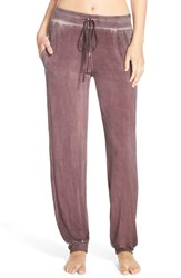 Women's Daniel Buchler Washed Out Lounge Pants Wine