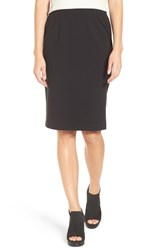 Eileen Fisher Women's Stretch Ponte Pencil Skirt Black