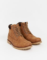 New Look Worker Boots In Tan
