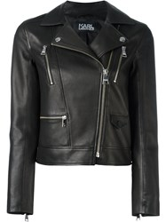 Karl Lagerfeld Fitted Cropped Jacket Black