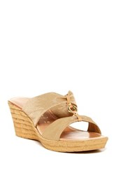 Italian Shoemakers August Sandal Wide Width Available Beige