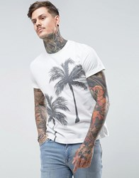 People Tree Palm T Shirt White