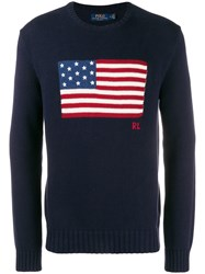 Polo Ralph Lauren Flag Knitted Jumper Blue