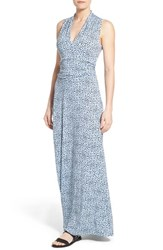 Women's Vince Camuto Speckle Print Cutaway Shoulder Jersey Maxi Dress