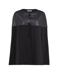 Gina Bacconi Matt Sequin And Ponti Cape Black
