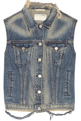 Rag And Bone Burney Denim Vest Blue