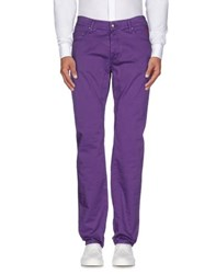 Jaggy Trousers Casual Trousers Men Purple