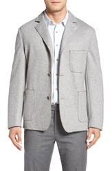Flynt Men's Big And Tall New Fit Laser Cut Knit Sport Coat Light Grey