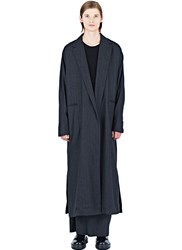 Thamanyah Long Pinstripe Coat Grey