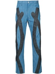Anrealage Dungaree Trousers Blue