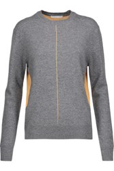 Duffy Two Tone Cashmere Sweater Dark Gray