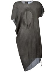 Lost And Found Ria Dunn Sheer T Shirt Dress Grey