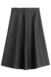 Michael Kors Denim Midi Skirt Brown