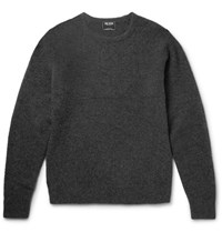 Todd Snyder Cashmere Blend Boucle Sweater Charcoal