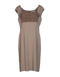 Nina Knee Length Dresses Sand