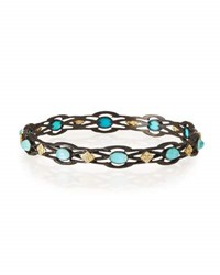 Armenta Old World Open Scroll Cravelli Bangle With Turquoise Blue