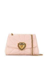 Dolce And Gabbana Embellished Shoulder Bag Pink