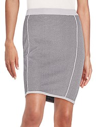 1 By O'2nd Erica Knit Pencil Skirt Light Grey