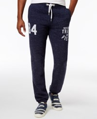 Superdry Men's Trackster Graphic Print Joggers Atlantic Navy Grit