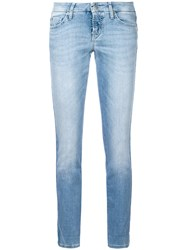 Cambio Cropped Skinny Jeans Blue