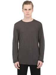 Transit Lyocell And Cashmere Blend Jersey T Shirt