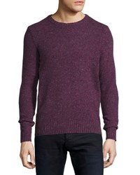 Penguin Long Sleeve Crewneck Sweater Purple