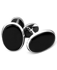 Macy's Men's Sterling Silver And Onyx Cufflink