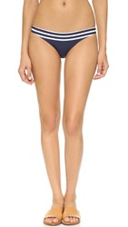 Shoshanna Striped Jersey Classic Bottoms Navy White