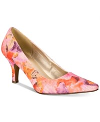 Karen Scott Clancy Pumps Only At Macy's Women's Shoes Pink Floral