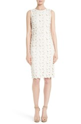 Alice Olivia Women's Fey Faux Leather Lace Sheath Dress