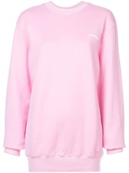 Fiorucci Logo Printed Sweatshirt Pink And Purple