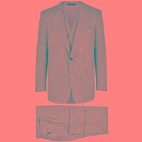 Cifonelli Marbeuf Herringbone Silk Blend Suit Light Grey
