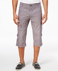 Inc International Concepts Men's Foster Messenger Shorts Only At Macy's Grey Skies