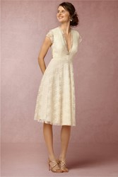 Anthropologie Aaliyah Wedding Guest Dress Cream