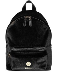 Versus Mini Velvet Backpack Black