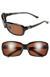 Women's Zeal Optics 'Zeta' 61Mm Plant Based Polarized Sunglasses Black Gloss Copper