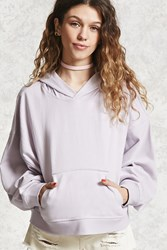 Forever 21 Contemporary Dolman Hoodie Lavender