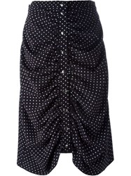 J.W.Anderson J.W. Anderson Ruched Polka Dot Skirt Blue