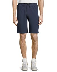 Threads For Thought Boomer Drawstring Fleece Shorts Blue