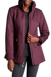 Ellen Tracy Quilted Mock Neck Jacket Multi