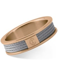 Charriol Forever Two Tone Pvd Stainless Steel Cable Ring Two Tone
