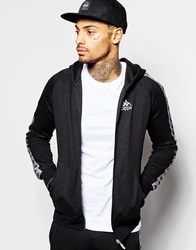 Kappa Zip Up Hoodie With Side Taping