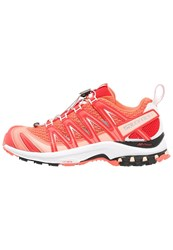 Salomon Xa Pro 3D Trail Running Shoes Living Coral White Poppy Red
